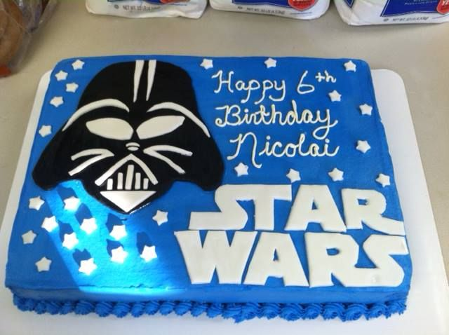 Enjoyable Birthday Cakes Star Wars Cake Yesbirthday Home Of Birthday Birthday Cards Printable Giouspongecafe Filternl