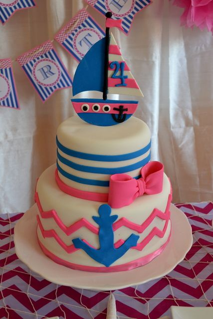 Super Birthday Cakes Nautical Birthday Party Ideas Yesbirthday Personalised Birthday Cards Veneteletsinfo