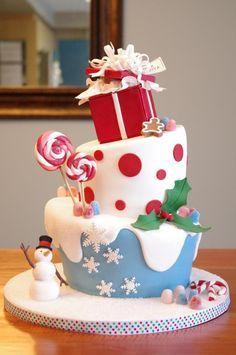 Birthday Cakes 25 Beautiful Christmas Cake Decoration