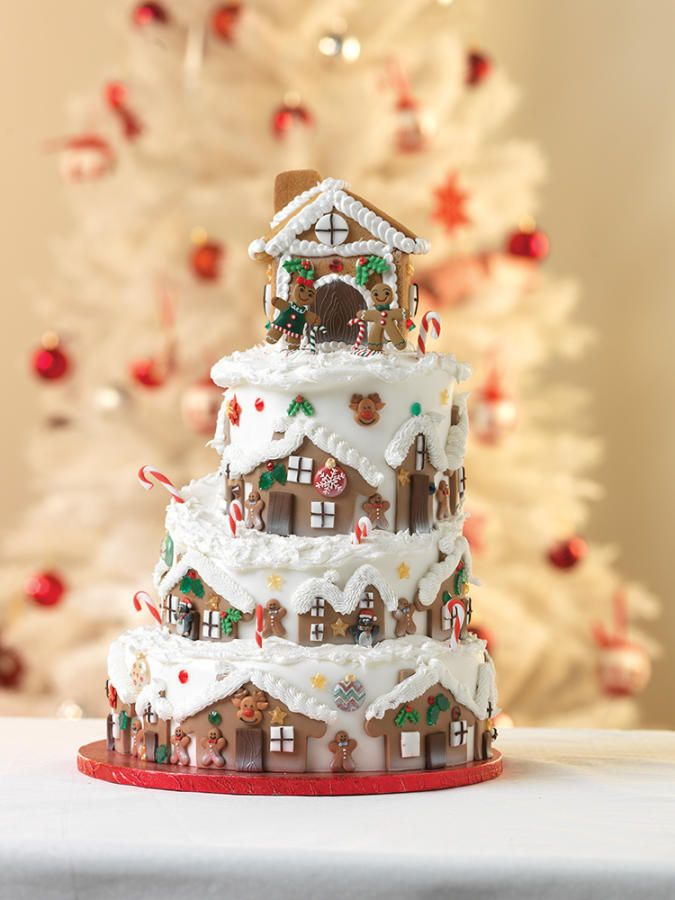 Strange Birthday Cakes 4 Tier Christmas Cake And Gingerbread House Funny Birthday Cards Online Hetedamsfinfo