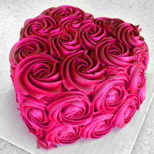 Awe Inspiring Birthday Cakes A Mini Heart Shaped Valentines Day Cake Birthday Cards Printable Riciscafe Filternl