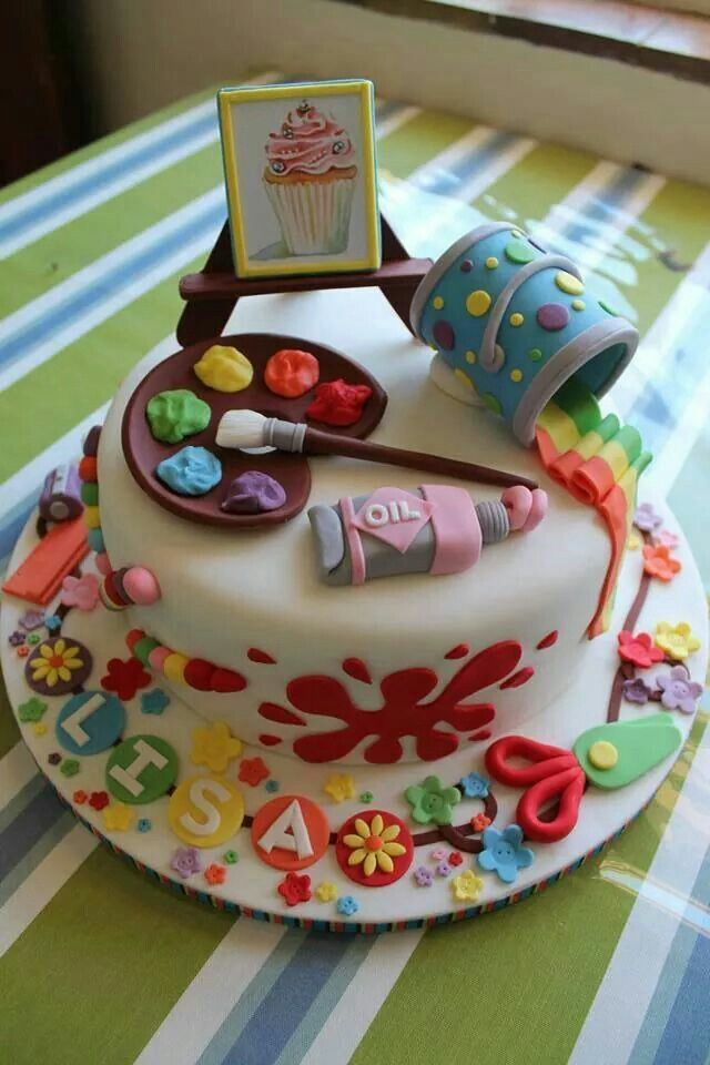 Description An Artists Cake