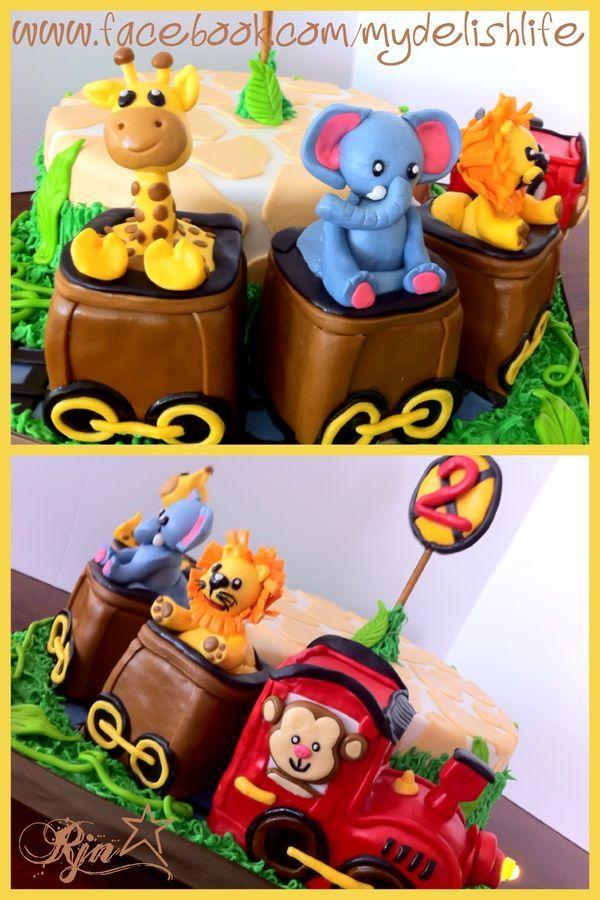 Awe Inspiring Birthday Cakes Animal Train Cake Yesbirthday Home Of Personalised Birthday Cards Arneslily Jamesorg