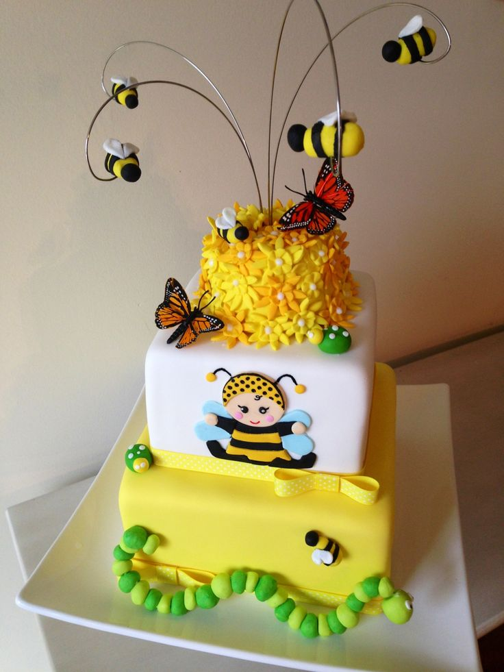 Super Birthday Cakes Baby Shower Bumble Bee Cake Yesbirthday Home Personalised Birthday Cards Paralily Jamesorg