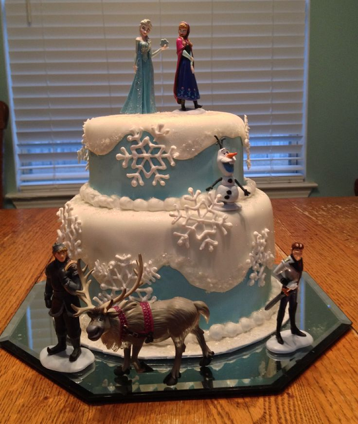 Tremendous Birthday Cakes Beautiful Frozen Cake So Awesome And Delcious Funny Birthday Cards Online Elaedamsfinfo