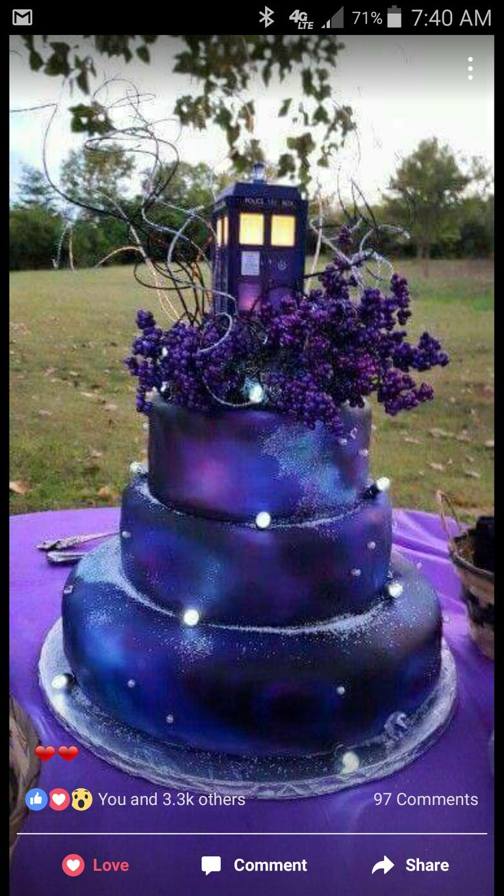 Remarkable Birthday Cakes Beautiful Tardis Galaxy Cake Yesbirthday Home Funny Birthday Cards Online Alyptdamsfinfo