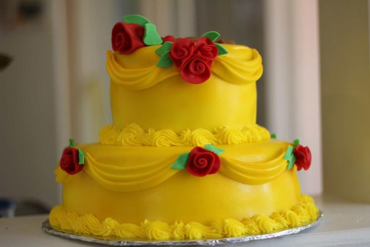 Pleasing Birthday Cakes Beauty And The Beast Cake Facebook Com Funny Birthday Cards Online Elaedamsfinfo