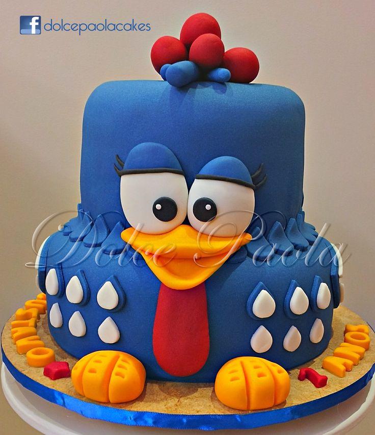 Fabulous Birthday Cakes Bolo Galinha Pintadinha Lottie Dottie Chicken Funny Birthday Cards Online Bapapcheapnameinfo