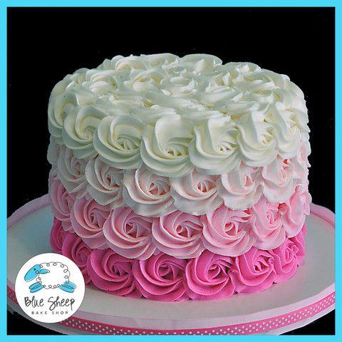 Phenomenal Birthday Cakes Brooklyns Pink And Gold Buttercream 1St Birthday Personalised Birthday Cards Veneteletsinfo