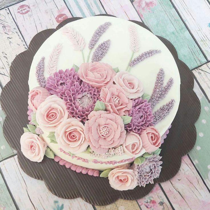 Terrific Birthday Cakes Buttercream Flowers Yesbirthday Home Of Birthday Cards Printable Opercafe Filternl