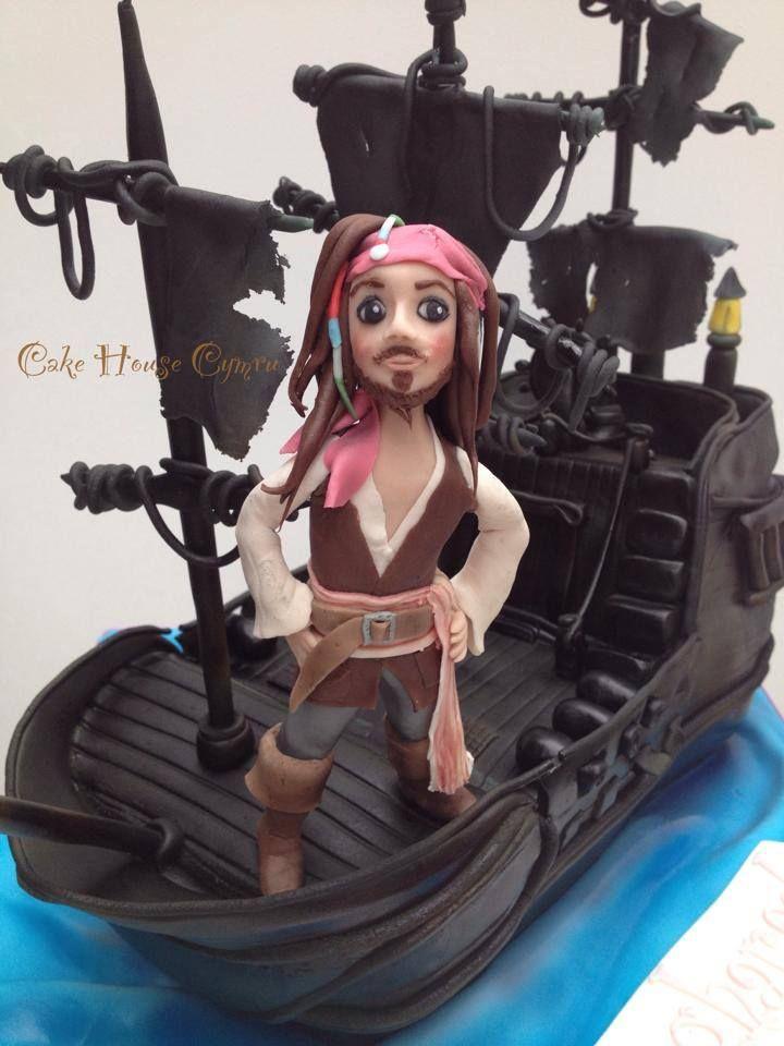 Strange Birthday Cakes Captain Jack And The Black Pearl Cake Pirates Funny Birthday Cards Online Aeocydamsfinfo