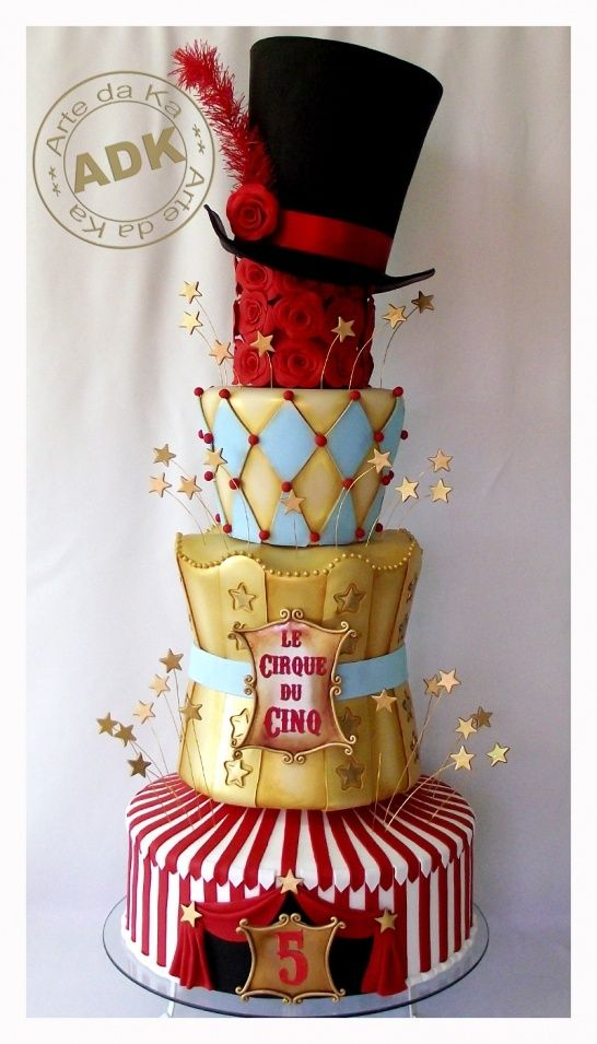 Peachy Birthday Cakes Circus Themed Cake Yesbirthday Home Of Funny Birthday Cards Online Elaedamsfinfo