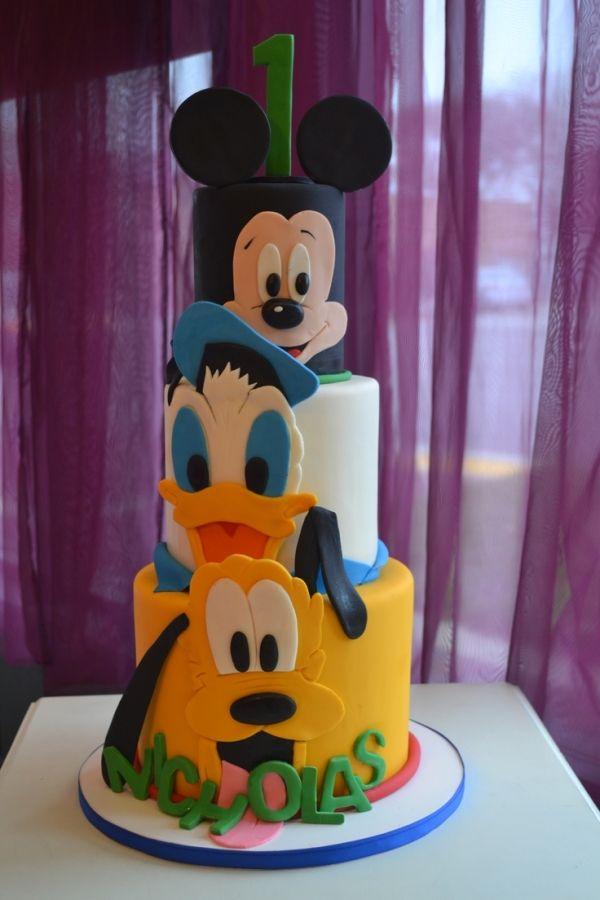 Brilliant Birthday Cakes Disney Mickey And Friends Cake 1St Birthday By Personalised Birthday Cards Vishlily Jamesorg