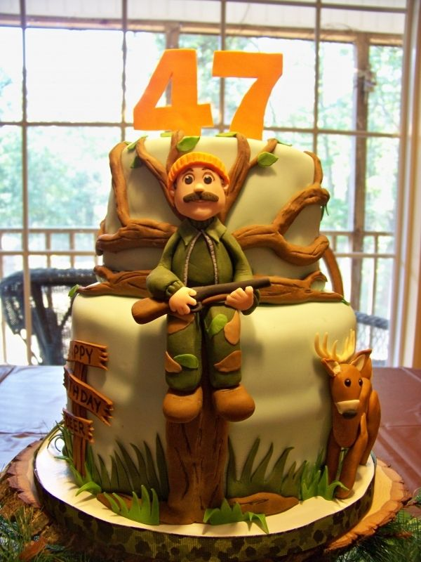 Peachy Birthday Cakes Deer Hunting Cake Any Man That Hunts Would Personalised Birthday Cards Veneteletsinfo