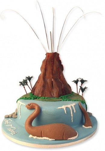 Incredible Birthday Cakes Dinosaur Volcano Cake Yesbirthday Home Of Personalised Birthday Cards Veneteletsinfo