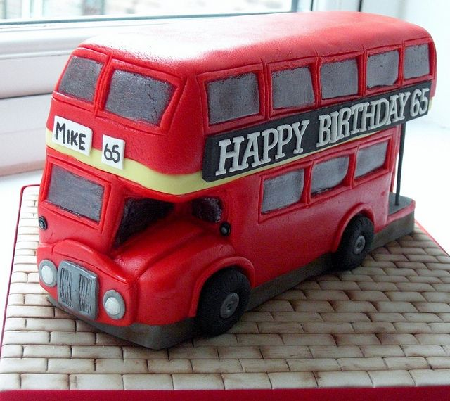 Tremendous Birthday Cakes Double Decker London Bus Cake Yesbirthday Funny Birthday Cards Online Barepcheapnameinfo