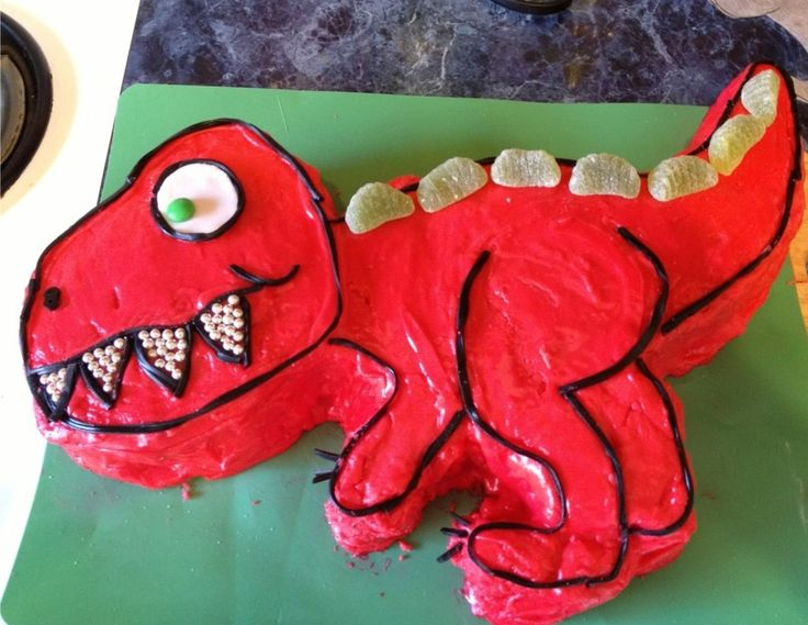 Pleasant Birthday Cakes Easy T Rex Cake For Kids Yesbirthday Home Of Personalised Birthday Cards Paralily Jamesorg