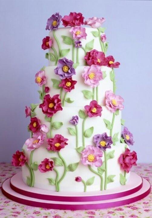 Enjoyable Birthday Cakes Flower Cake Flower Flowers Apps Facebook Com Personalised Birthday Cards Paralily Jamesorg