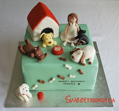 Marvelous Birthday Cakes For The Kid That Is Llergic To Dogs The Cute Funny Birthday Cards Online Inifodamsfinfo