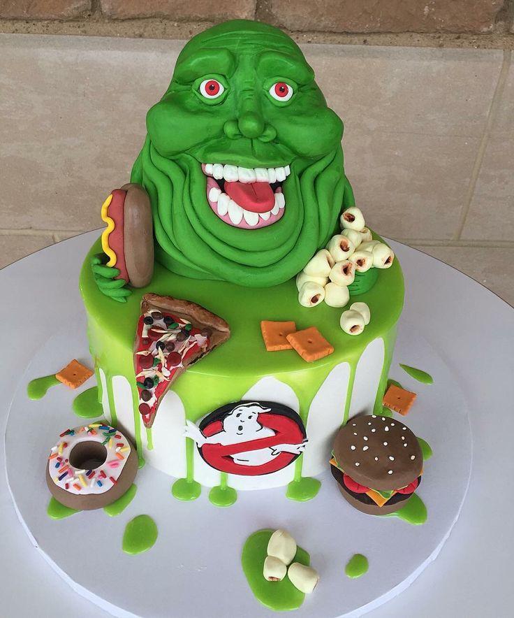 Strange Birthday Cakes Ghostbusters Cake Perfect For Your Ghostbusters Funny Birthday Cards Online Alyptdamsfinfo