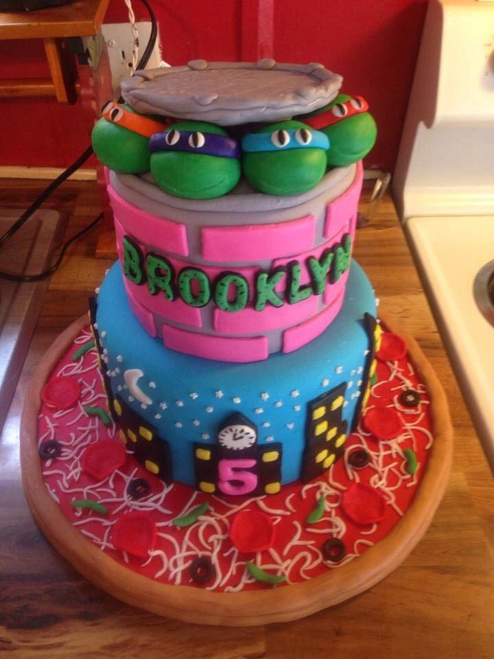 Birthday Cakes : – Girly ninja turtle cake | YesBirthday
