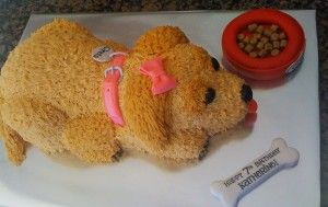 Fabulous Birthday Cakes Golden Retriever Dog Cake 2 Yesbirthday Home Funny Birthday Cards Online Alyptdamsfinfo