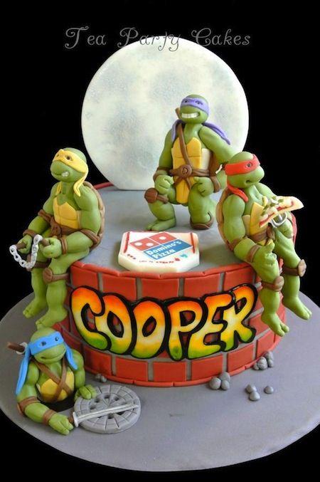 Awesome Birthday Cakes Great Teenage Mutant Ninja Turtles Cake Funny Birthday Cards Online Alyptdamsfinfo