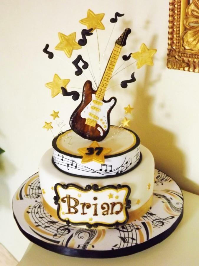 Astonishing Birthday Cakes Guitar Cake Cake By Lovely Cakes Simona Funny Birthday Cards Online Alyptdamsfinfo