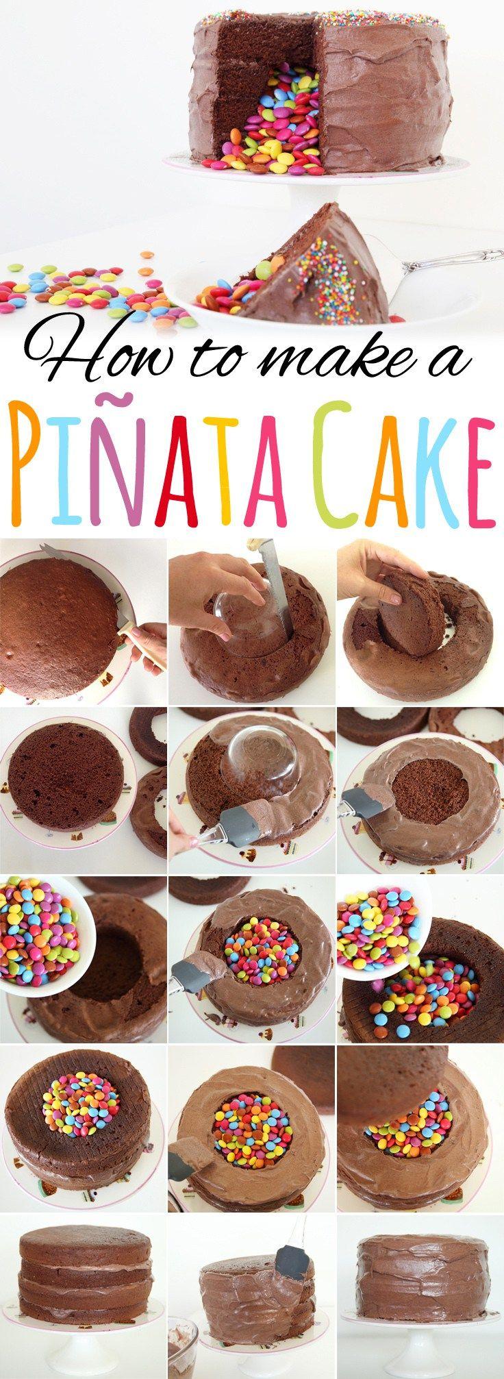 Enjoyable Birthday Cakes How To Make A Pinata Cake Yesbirthday Home Of Funny Birthday Cards Online Ioscodamsfinfo