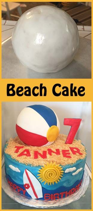 Enjoyable Birthday Cakes How To Make A Beach Ball Cake Yesbirthday Birthday Cards Printable Benkemecafe Filternl