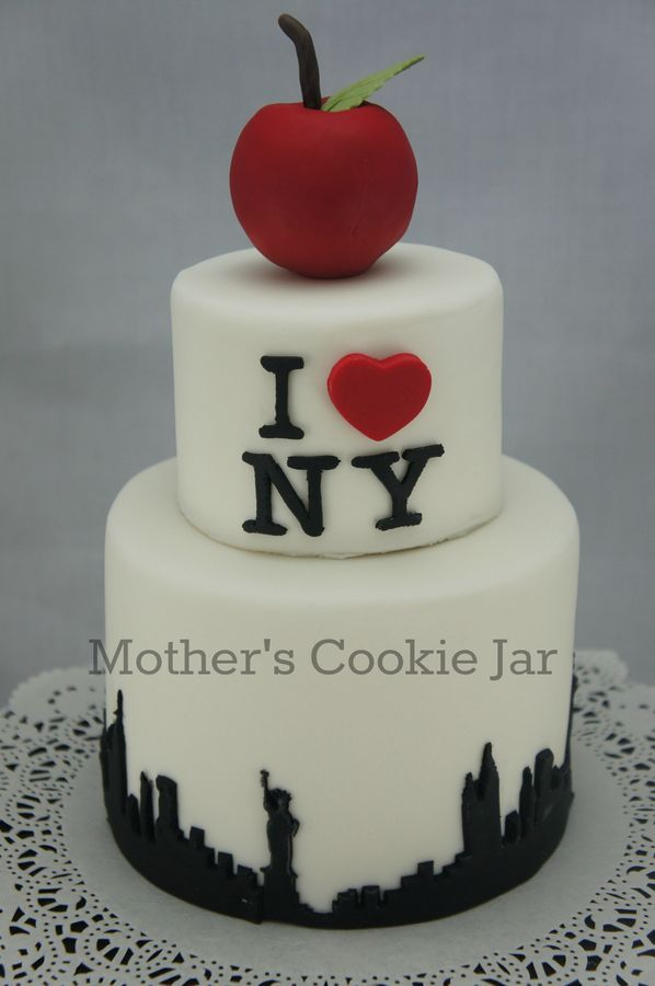 Magnificent Birthday Cakes I Love New York Inspired Birthday Cake Instead Funny Birthday Cards Online Elaedamsfinfo