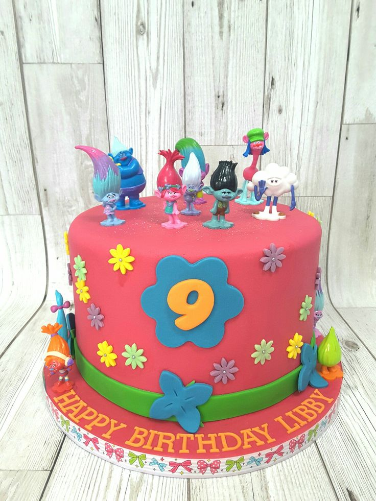 Peachy Birthday Cakes Image Result For Disney Trolls Cake Ideas Birthday Cards Printable Riciscafe Filternl