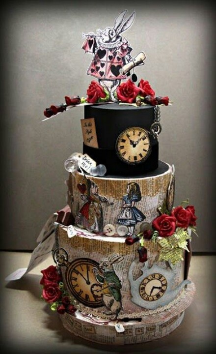 Remarkable Birthday Cakes Is This A Real Cake Alice In Wonderland Theme Funny Birthday Cards Online Barepcheapnameinfo