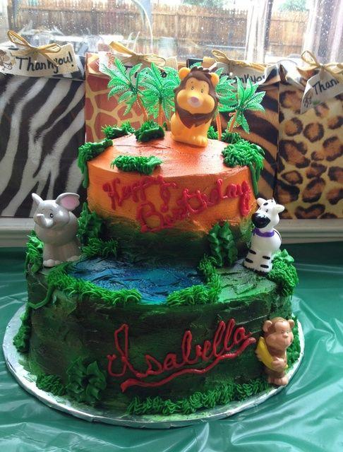 Tremendous Birthday Cakes Jungle Safari Birthday Party Ideas Yesbirthday Funny Birthday Cards Online Alyptdamsfinfo