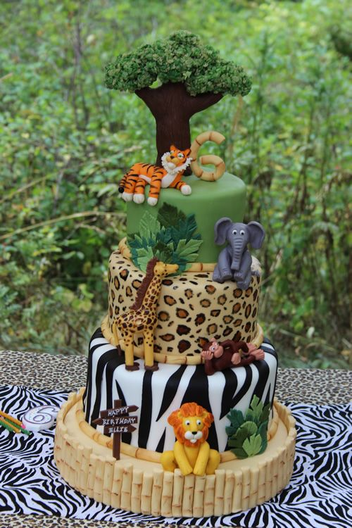 Incredible Birthday Cakes Jungle Safari Birthday Cake Sweet Dreams Cake Personalised Birthday Cards Xaembasilily Jamesorg