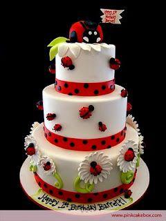 Pleasant Birthday Cakes Ladybug Cake Little Girls Birthday Cake Funny Birthday Cards Online Elaedamsfinfo