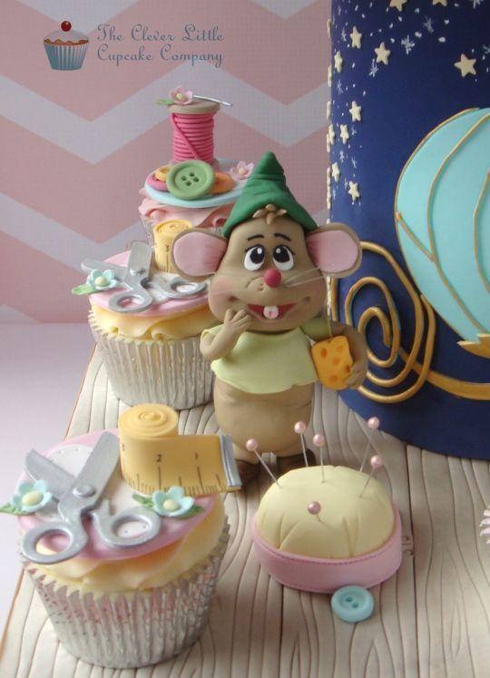 Wondrous Birthday Cakes Marvelous Mice Helping With Cinderellas Dress Funny Birthday Cards Online Drosicarndamsfinfo