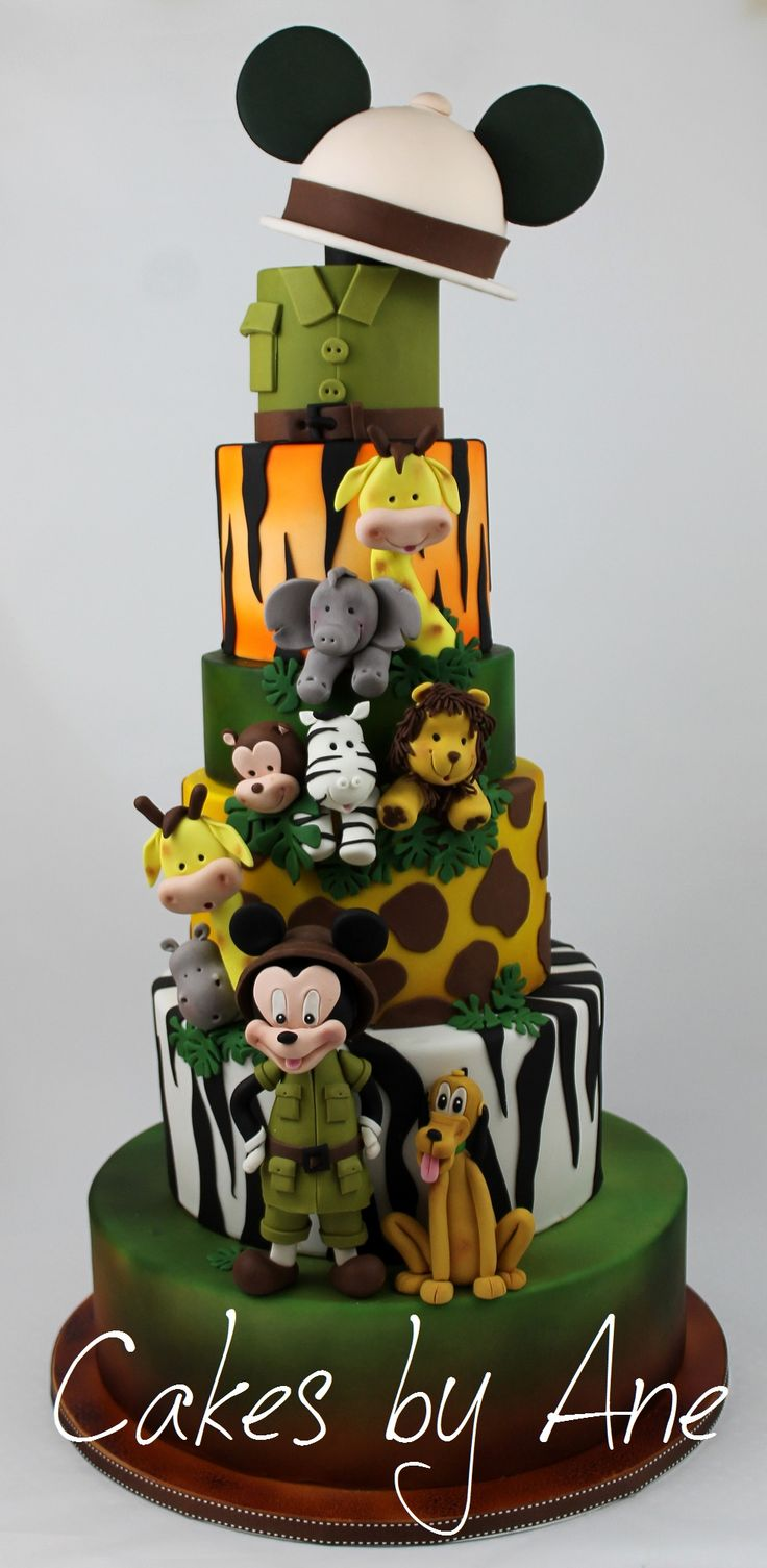 Awesome Birthday Cakes Mickey Mouse Safari Cake Yesbirthday Home Of Funny Birthday Cards Online Alyptdamsfinfo