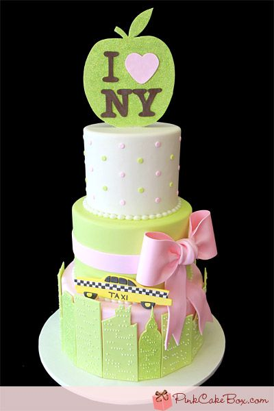 Awesome Birthday Cakes Nyc Themed Baby Shower Cake Custom Baby Shower Personalised Birthday Cards Sponlily Jamesorg