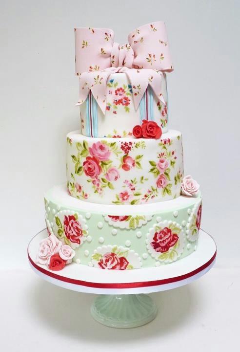 Strange Birthday Cakes Omg Shabby Chic Cake Tea Party I Hear You Personalised Birthday Cards Cominlily Jamesorg