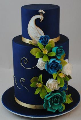 Surprising Birthday Cakes Peacock Wedding Cake By 21 Cake Lane Facebook Personalised Birthday Cards Veneteletsinfo