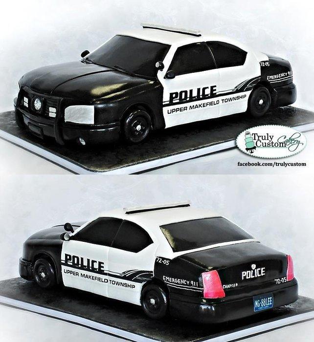 Strange Birthday Cakes Police Car Cake By Trulycustom Yesbirthday Funny Birthday Cards Online Necthendildamsfinfo
