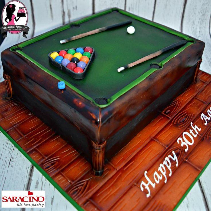 Cool Birthday Cakes Pool Table Cake By Sensational Sugar Art By Sarah Personalised Birthday Cards Akebfashionlily Jamesorg
