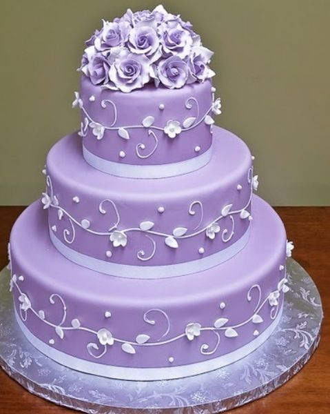 Fantastic Birthday Cakes Purple Lavender Diamond Simple Elegant Tiered Funny Birthday Cards Online Bapapcheapnameinfo