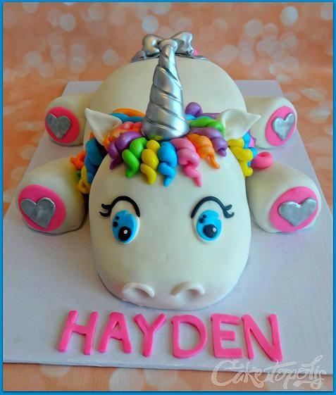Description Rainbow Unicorn Birthday Cake