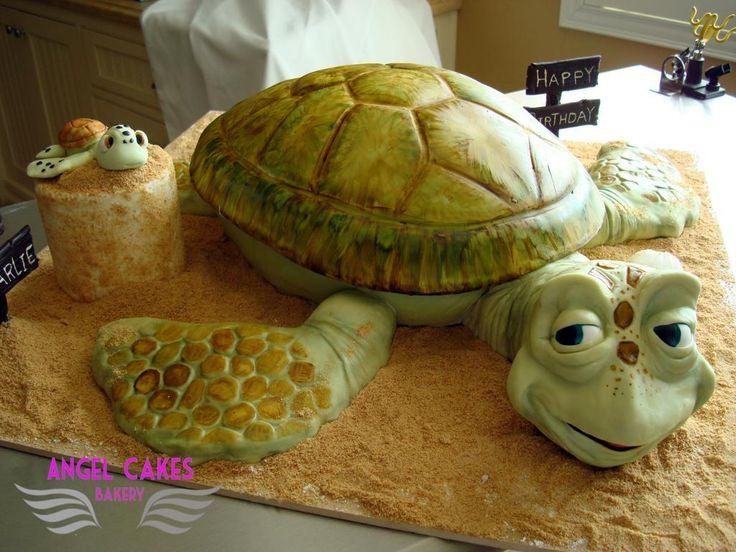 Strange Birthday Cakes Sea Turtle Cake Via Craftsy Yesbirthday Personalised Birthday Cards Veneteletsinfo