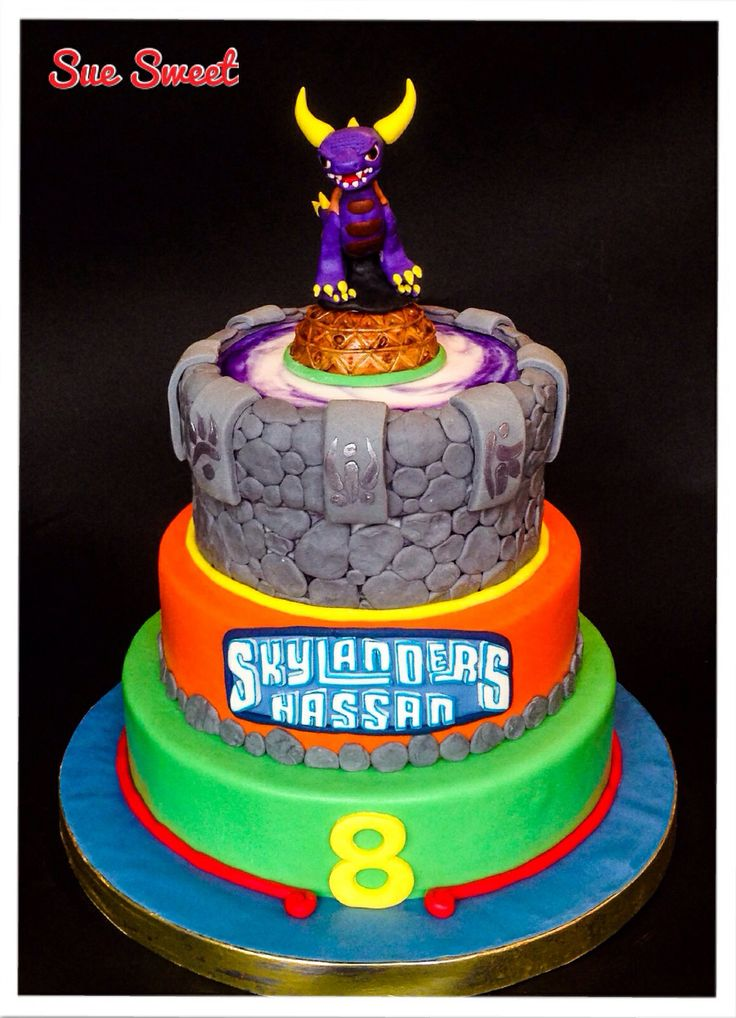 Admirable Birthday Cakes Skylanders Cake Yesbirthday Home Of Birthday Funny Birthday Cards Online Inifodamsfinfo