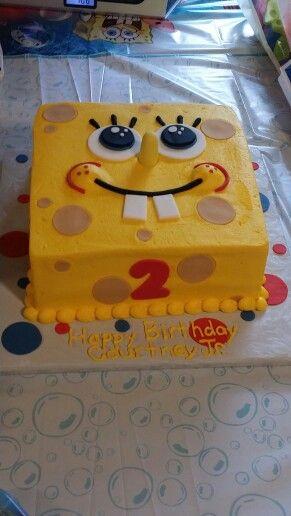Groovy Birthday Cakes Spongebob Birthday Cake For My Baby Boy Funny Birthday Cards Online Alyptdamsfinfo
