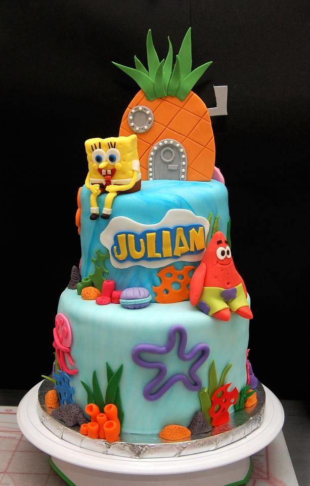 Swell Birthday Cakes Spongebob Cake Love The Gumpaste Pineapple On Funny Birthday Cards Online Alyptdamsfinfo