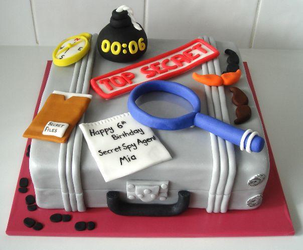 Astounding Birthday Cakes Spy Themed Birthday Cake Catherines Cakes Funny Birthday Cards Online Hetedamsfinfo